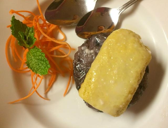 Sticky rice with Thai custard, $5.50 - ALICE LEVITT