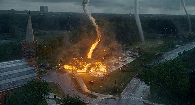 Storm and Drang: If you're in the mood for state-of-the-art destruction porn and nothing more, this Twister rip-off forecasts film fun.