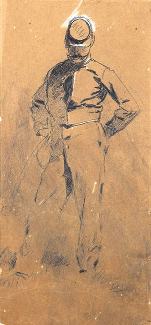 Study for a painting by Winslow Homer - COURTESY OF FLEMING MUSEUM;