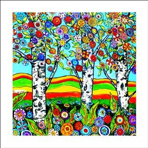 """COURTESY OF SEABA - """"Summer Birches"""" by Stephanie Larsen"""