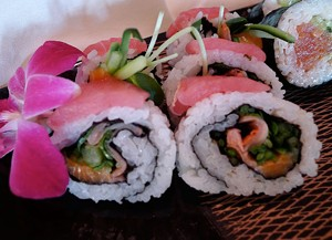 Sushi at Le Belvedere