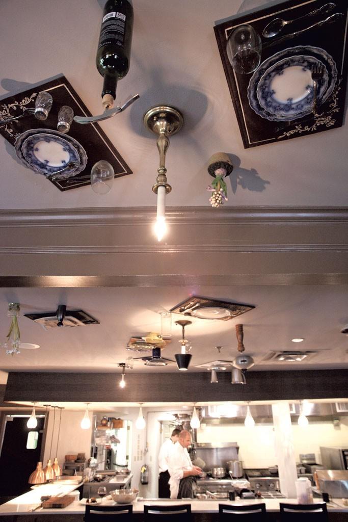 Table settings on the ceiling - MATTHEW THORSEN
