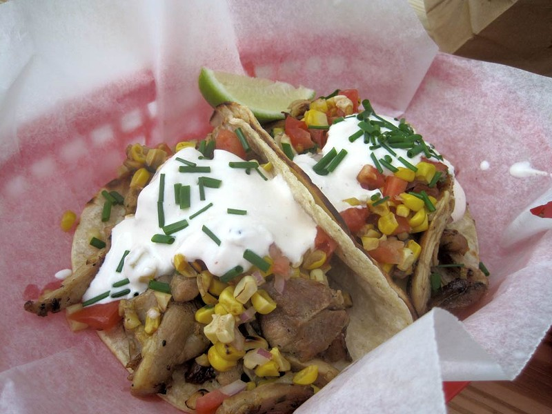 Tacos from Vermont Harvest Catering & Concessions - COURTESY OF ALICE LEVITT