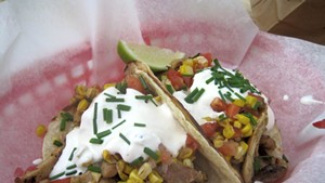 Tacos from Vermont Harvest Catering & Concessions