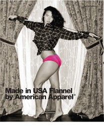 The American Apparel ad (censored version)