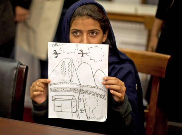 THE ART OF WAR When 9-year-old Nabila Rehman came all the way from Pakistan to tell members of Congress what it's like to have an American Hellfire missile fired at your family, she drew a picture but not much of a crowd.