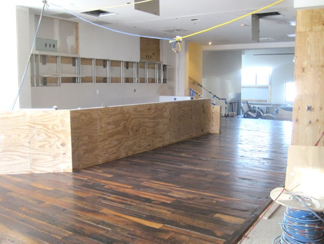 The beginnings of the bar at Juniper