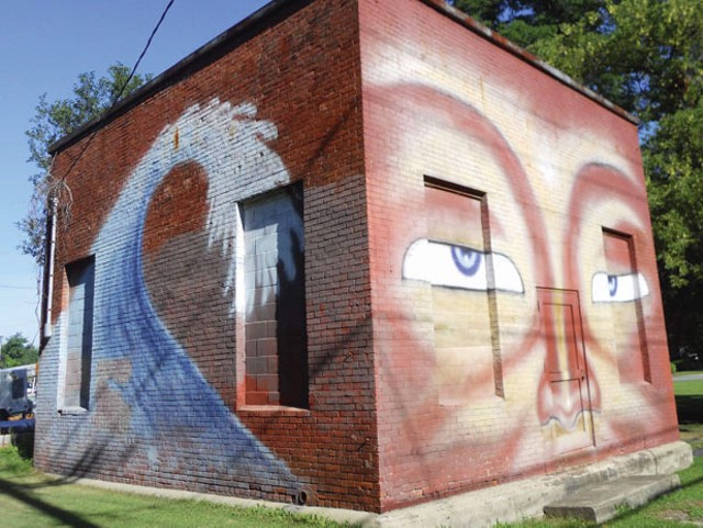The Buddha mural on Pine Street