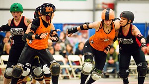 The Carolina Rollergirls vs. the Dutchland Derby Rollers