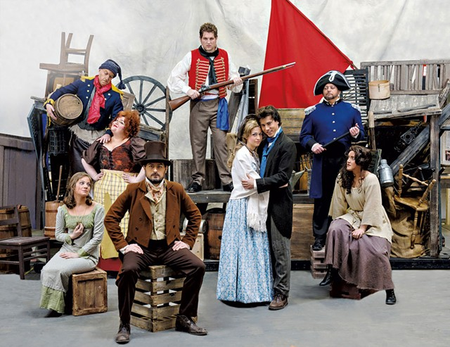The cast of central characters in Lyric Theatre Company's Les Misérables