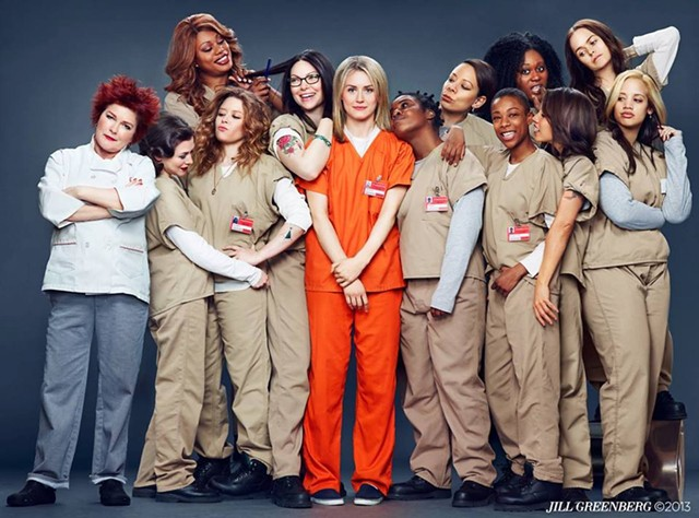 "The cast of the Netflix series ""Orange Is the New Black,"" based on Piper Kerman's memoir - JILL GREENBERG"