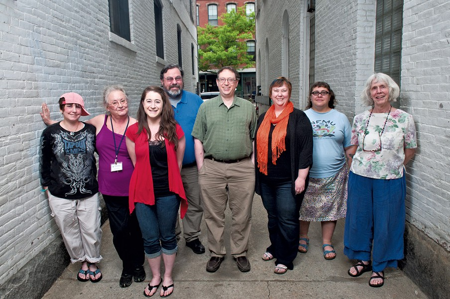 The Commons staff in downtown Brattleboro - ZACH STEPHENS