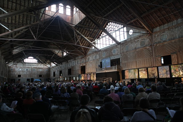 The debut performance of the Emergent Universe Oratorio at the Shelburne Farms Breeding Barn - COURTESY OF MARSHALL WEBB