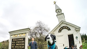 The Dog Chapel, built by Stephen Huneck