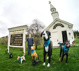 The Dog Chapel, built by Stephen Huneck - COURTESY OF DOG MOUNTAIN