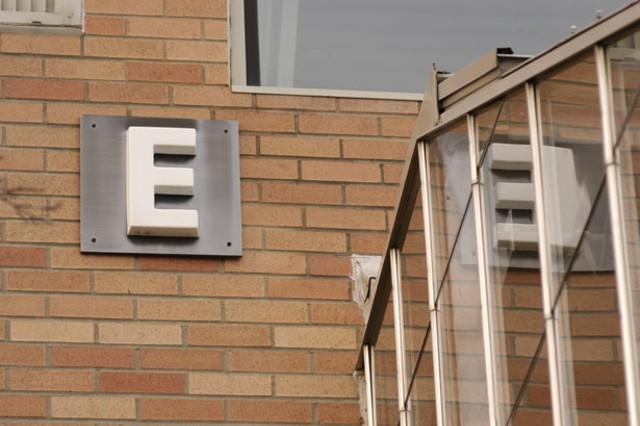 "The ""E"" building at Burlington High School, site of recent health complaints. - MATTHEW THORSEN"