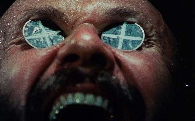 The great Donald Pleasence, coinèd eyes a-gleam - DRAFTHOUSE FILMS