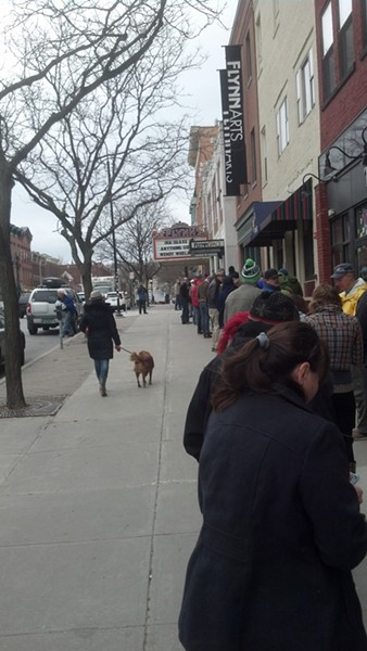 The line at the Flynn. Oh, the horror! - MATTHEW ROY