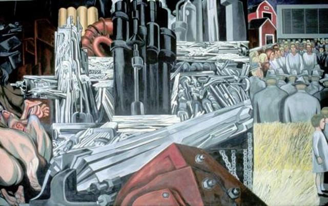 Dartmouth college creates interactive orozco mural website for Dartmouth mural