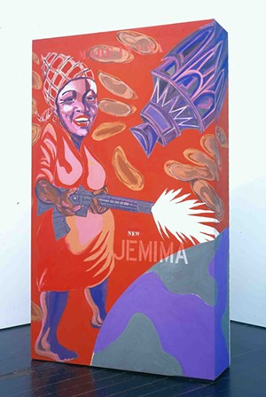 """COURTESY OF THE HOOD MUSEUM - """"The New Jemima"""" by Joe Overstreet"""