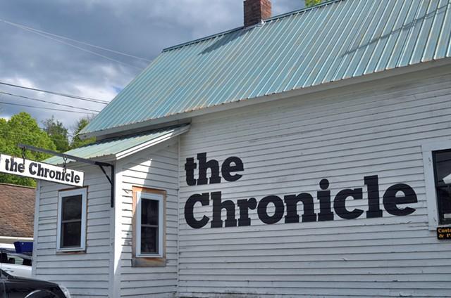 The offices of the Barton Chronicle - MARK DAVIS