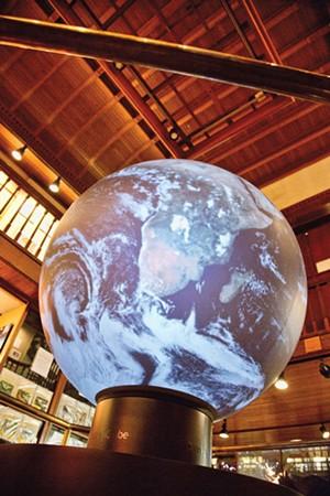 The OmniGlobe at the Fairbanks Museum - MATTHEW THORSEN