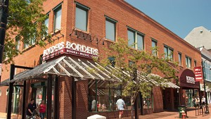 The soon-to-be-vacant Borders bookstore on Church Street