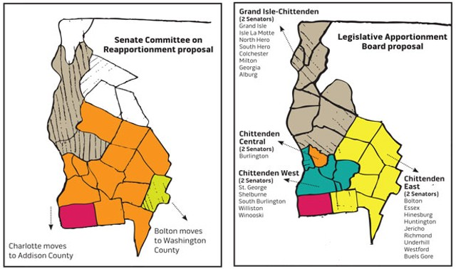 The two proposals on reapportioning Chittenden County's representation