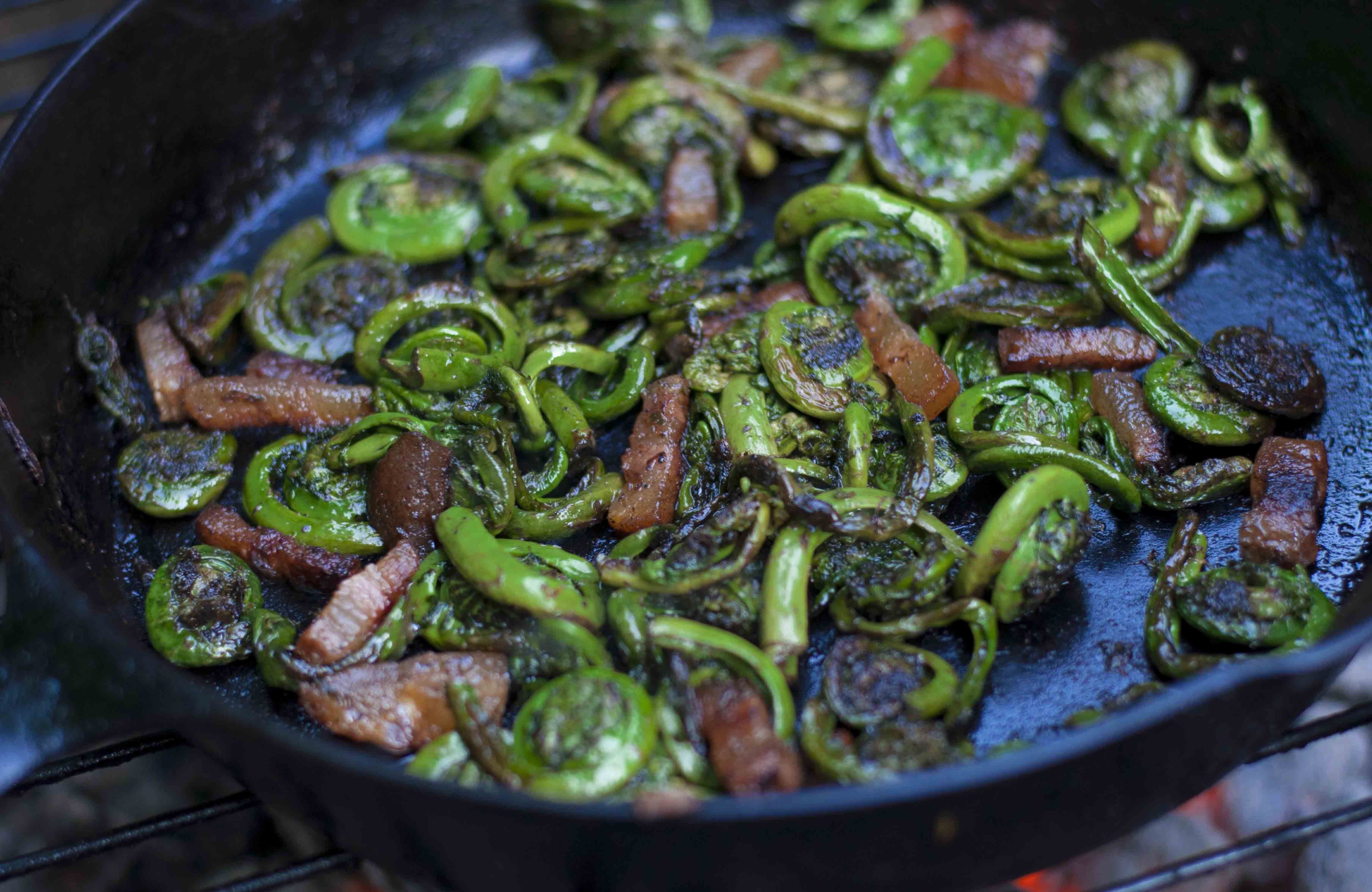 how to cook fiddleheads on the grill