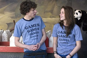 TILT-A-WHIRLWIND ROMANCE Eisenberg and Stewart learn that love is no game in the latest from Greg Mottola.