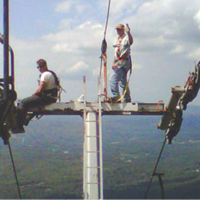 Tower work at Magic Mountain, summer 2010