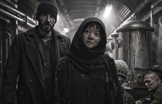 train in vain Evans survives the apocalypse only to endure oppression and claustrophobia in Bong's eccentric sci-fi pic.