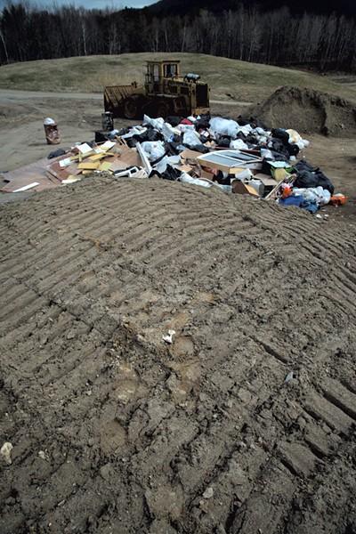 Trash accumulating at - the Bristol landfill on - a Saturday morning - MATTHEW THORSEN