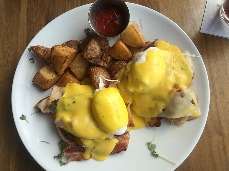 Turkey & Swiss Benedict, $13 - ALICE LEVITT