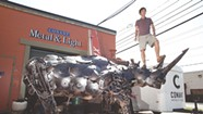 Tyler Vendituoli's Scrap-Metal Rhino Looms Large in Burlington