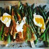 Fat Roasted Asparagus With Poached Eggs and Toasted Breadcrumbs