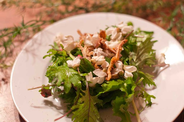 Crispy pig's ear salad - HANNAH PALMER EGAN