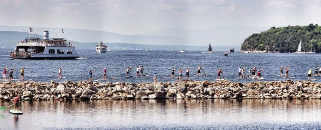Paddleboarding at the Burlington waterfront - STEPHEN MEASE