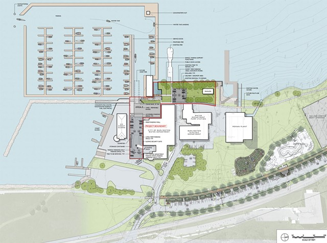A rendering of Burlington Harbor Marina Phase 1 - COURTESY OF WAGNER HODGSON LANDSCAPE ARCHITECTURE