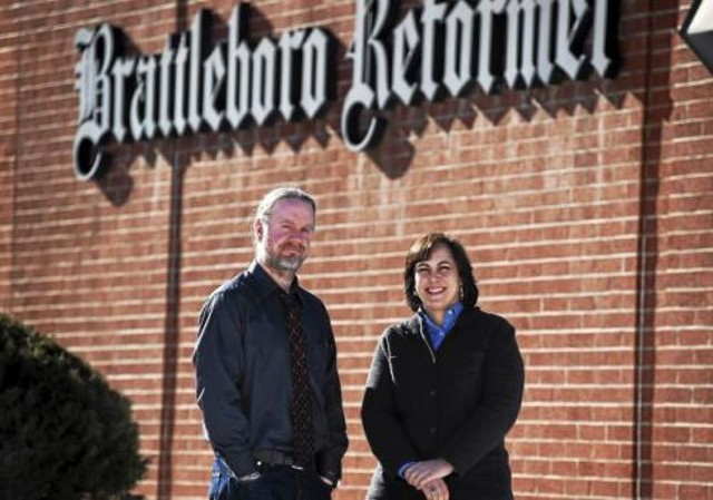 Former Brattleboro Reformer executive editor Tom D'Errico, left, was laid off last week. A position held by former Reformer and Bennington Banner managing editor Michelle Karas, right, won't be filled. - BRATTLEBORO REFORMER