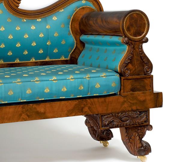 Nahum Parker sofa, 1830 - COURTESY OF THE SHELBURNE MUSEUM