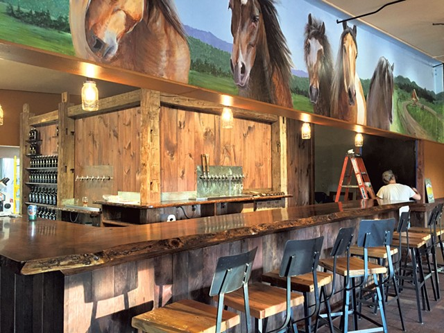 The bar at Stone Corral Brewery - COURTESY OF STONE CORRAL BREWERY