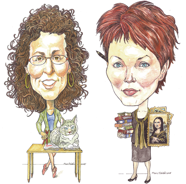 From left: Paula Routly and Tito (2006-15) and Pamela Polston - MARC NADEL