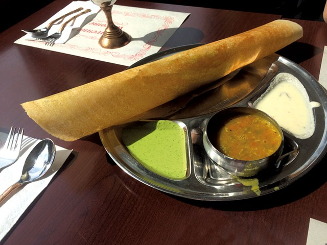 Dosa at Indian Curry House - ALICE LEVITT