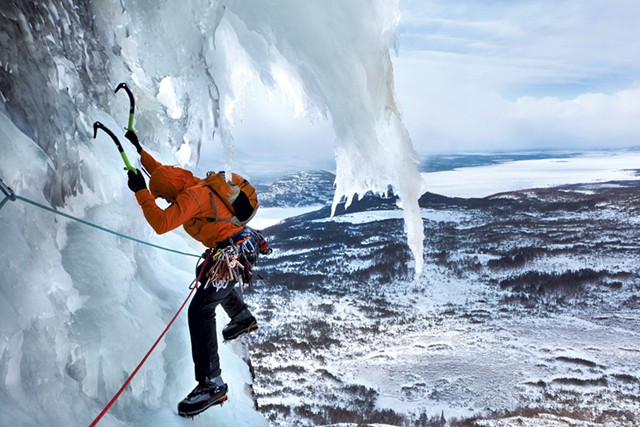 Ice climbing in Newfoundland - COURTESY OF ALDEN PELLETT