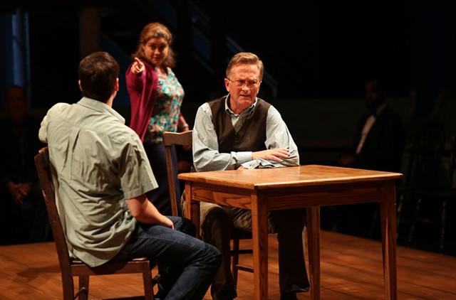 Left to right: Casey Predovic (George), Amanda Rafuse (Mrs. Webb) and Jamie Horton (Mr. Webb) - COURTESY OF ROB STRONG