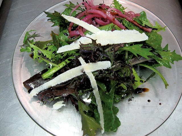 House salad at Woods Lodge - COURTESY OF WOODS LODGE