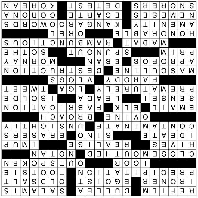Crossword 5 11 16