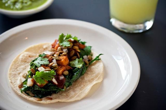 Camote Tacos - COURTESY OF EL CORTIJO TAQUERIA Y CANTINA