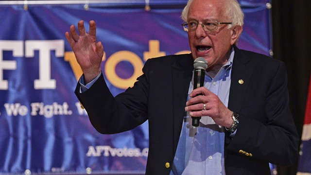 Sanders Takes On General Motors Near Shuttered Chevy Plant in Ohio